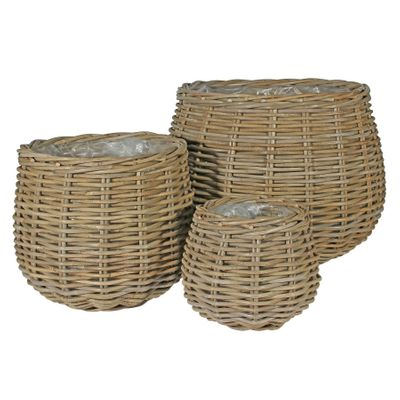 Set of 3 Onion Baskets with Liners
