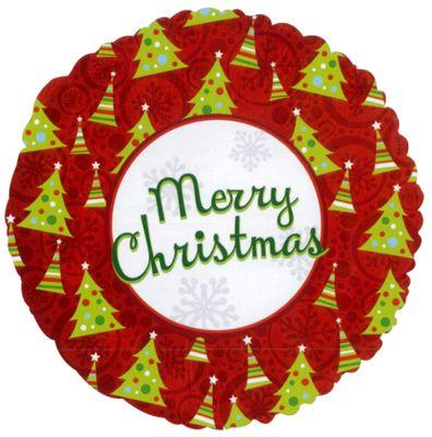 Merry Christmas Tree Balloon - 18 inch