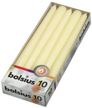 Bolsius Tapered Candles Pack 10 - Ivory
