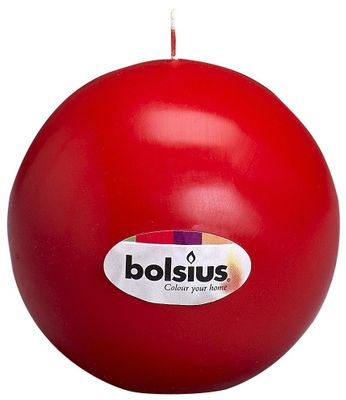 Bolsius Red Ball Candle - 70mm