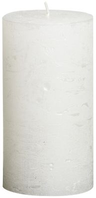 Bolsius Rustic Metallic Candle - White (130mm x  68mm)