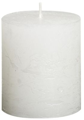 Bolsius Rustic Metallic Candle - White (80mm x  68mm)