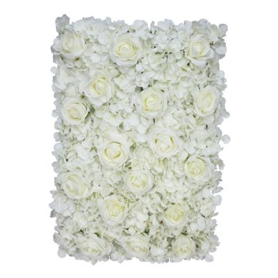 40x60cm Hydrangea Flower Wall with Roses Cream