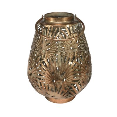 Brocante Palm Lantern Copper (L)