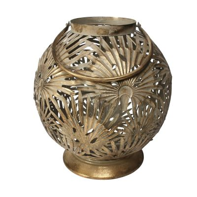 Brocante Palm Lantern Gold (L)