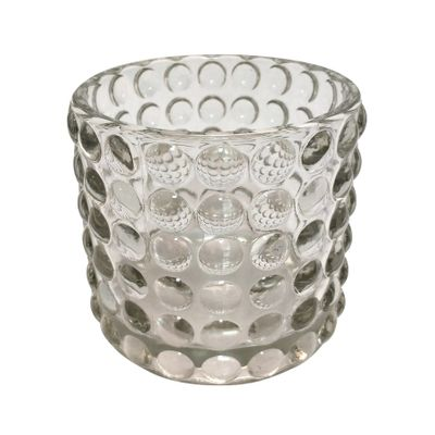 Clear Dimple Votive Candle Holder