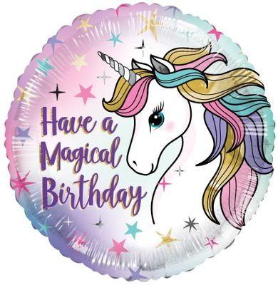 ECO Balloon - Have A Magical Bday Unicorn (18 Inch)