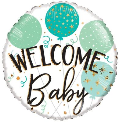 ECO Balloon - Welcome Baby Green Balloons (18 Inch)