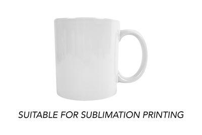 White Plain Mug (Personalisable applicable for sublimation) 11oz