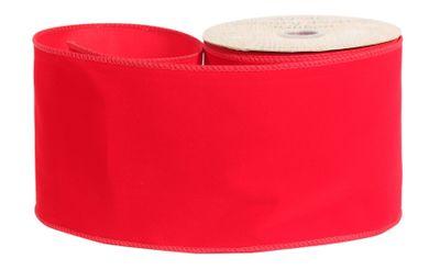 Red Velvet ribbon 100mm x 10yrds