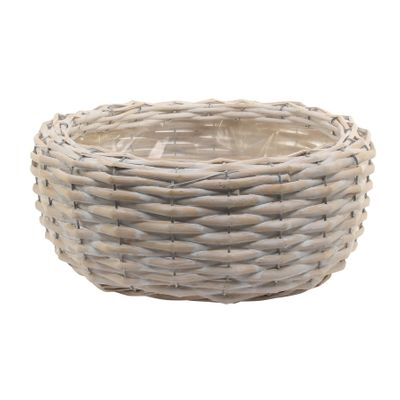 30cm Round White Willow Planter (16)