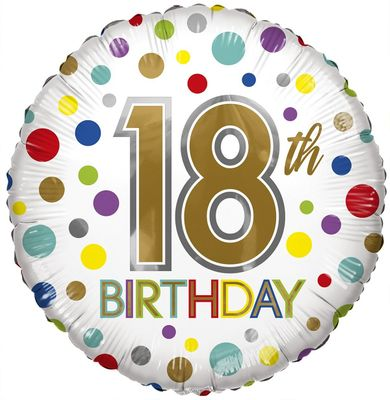 Eco Balloon - Birthday Age 18 (18 Inch)
