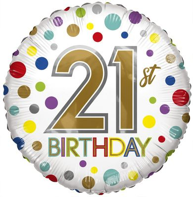 Eco Balloon - Birthday Age 21 (18 Inch)