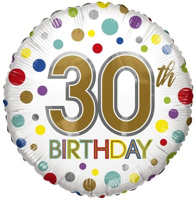 Eco Balloon - Birthday Age 30 (18 Inch)