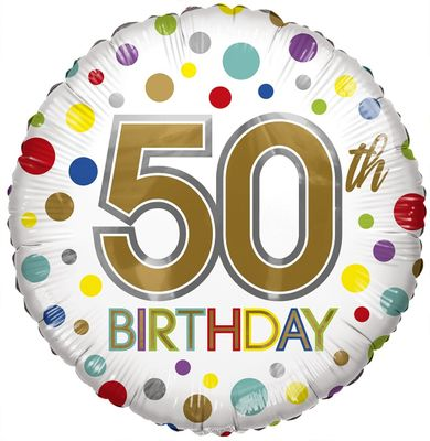 Eco Balloon - Birthday Age 50 (18 Inch)