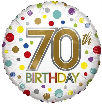 Eco Balloon - Birthday Age 70 (18 Inch)