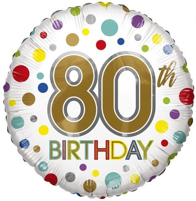 Eco Balloon - Birthday Age 80 (18 Inch)