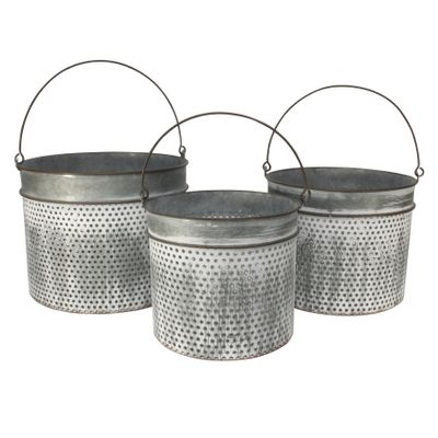 Set of 3 Havana  planters -Antique Grey
