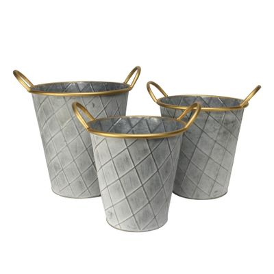 Set of 3 Nassau planters-Antique Grey