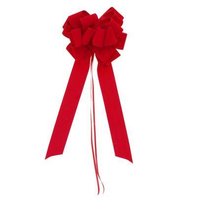 35mm Red Velvet Pull bow w/18 loops (pk 10)
