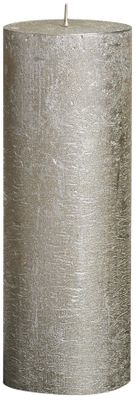 Bolsius Rustic Metallic Candle - Champagne (190mm x  68mm)