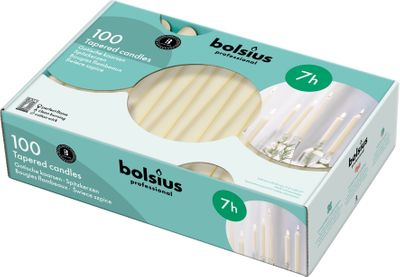 Bolsius Professional Tapered Candle 240/23 - Ivory - Box of 100