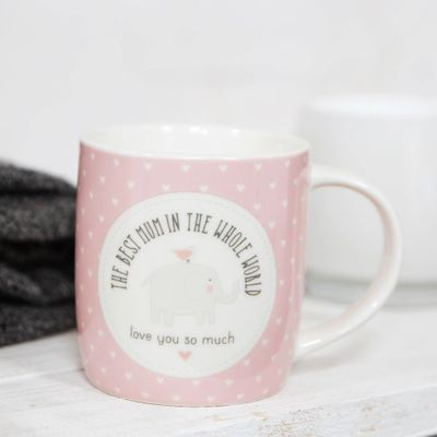 Petit Cheri The Best Mum In The Whole World Mug - Pink