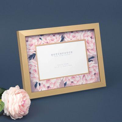 "6"" x 4"" - Swan Lake Gold & Pink Floral Photo Frame"