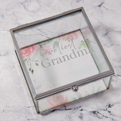 Sophia Glass Trinket Box - Loveliest Grandma