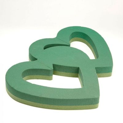 23 inch Double Open Heart Oasis Floral Foam
