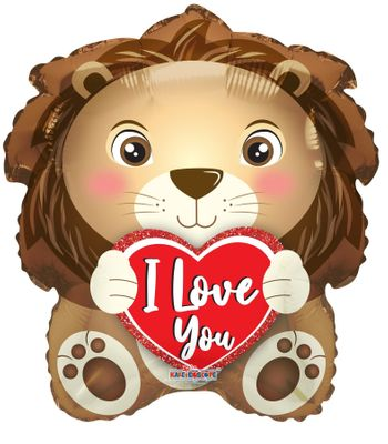 I Love You Lion Balloon - 18 Inch
