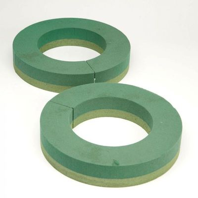 12 inch Naturebase Biodegradable Floral Foam Ring (pack of 2)