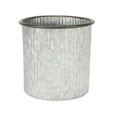Ribbed Zinc Planter (19x18cm)