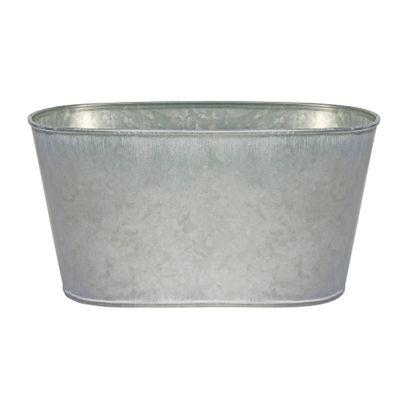 23.5x13cm Antique Grey Zinc Oval Trough