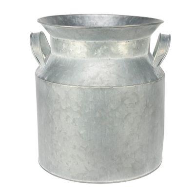 Antique Grey Zinc Milk Churn