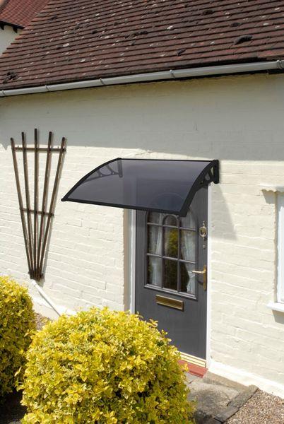 1M Tinted Door Canopy - Black