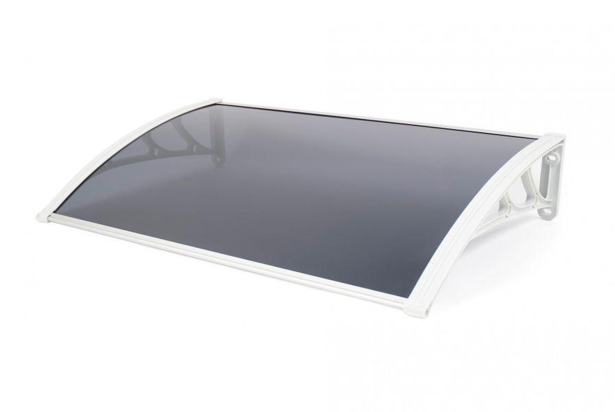 1M Tinted Door Canopy - White