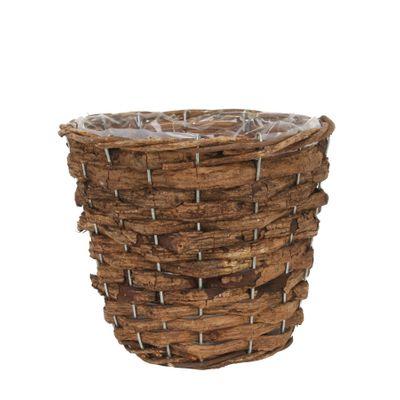 20cm Round Bark Planter (42)