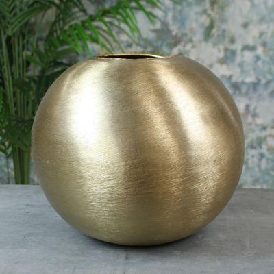 Hyde Park Brush Metal Globe Large Brushed Gold
