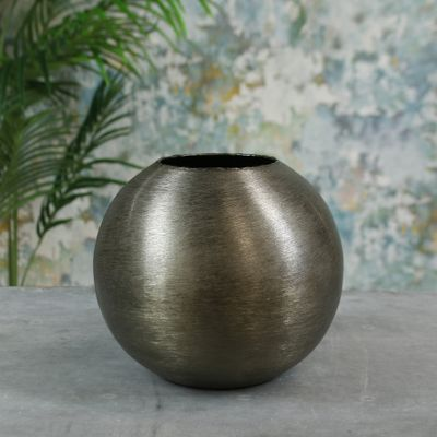 Hyde Park Brush Metal Globe Small Brushed Smoke Black