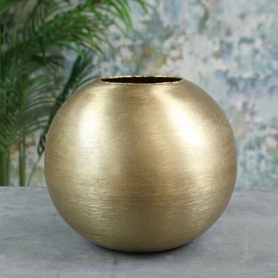 Hyde Park Brush Metal Globe Medium Brushed Gold