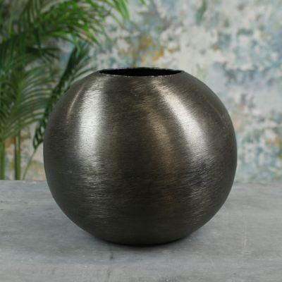 Hyde Park Brush Metal Globe Medium Brushed Smoke Black