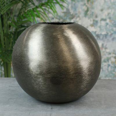 Hyde Park Brush Metal Globe Large Brushed Smoke Black