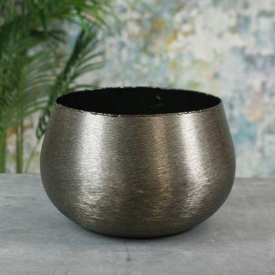 Hyde Park Brush Metal Pot Cover X Large Brushed Smoke Black