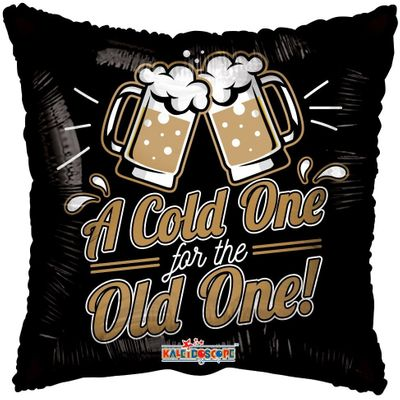 Eco Balloon - A Cold One for the Old One (18 Inch)