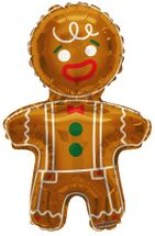Christmas Gingerbread Man Balloon - 36 Inch