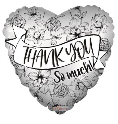 Eco Balloon - Thank You So Much Banner (18 Inch)