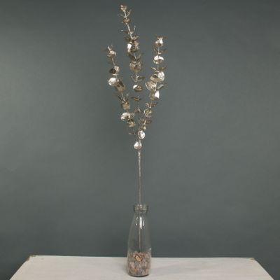 Metallic Eucalyptus x 3  Stem Champagne