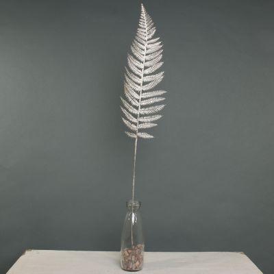 Metallic Fern Leaf stem Champagne