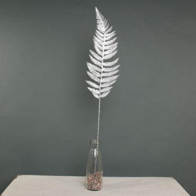 Metallic Fern Leaf stem Silver
